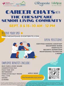 Career Chats with The Chesapeake @ Virginia Career Works - Hampton Center